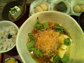 20130112 7豆腐と豆のあんかけ定食.JPG