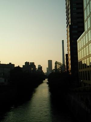 20140726 目黒川の夕暮れ.JPG