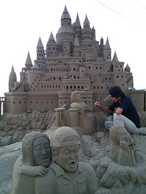 20150815 千里浜砂像2.JPG