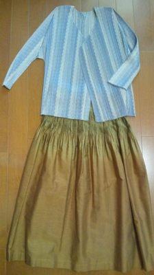 20130706 プリーツMistyAir&ISSEYスカート.JPG