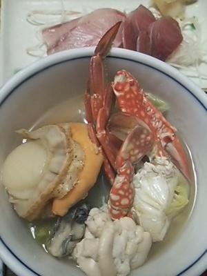 20150207 海鮮なべ&ぶり刺身.JPG