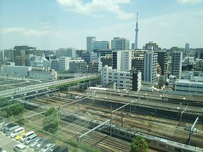 20150531 国立科博屋上から見る上野駅.JPG