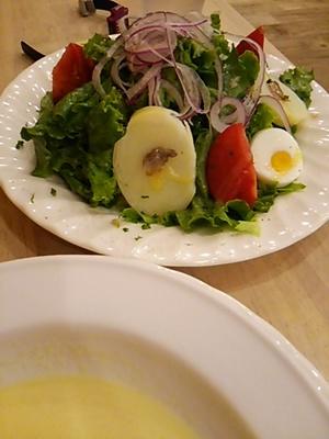 20150830 ニース風サラダ&コーンスープ.JPG