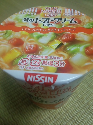 20160915 カップヌードル蟹のトマトクリーム.JPG