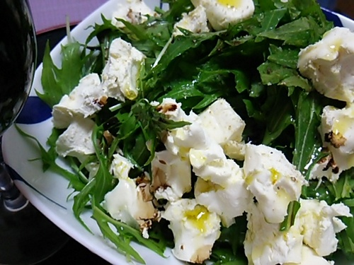 20170118 水菜とクリームチーズのサラダ.JPG